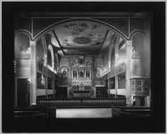 Interior of Santa Clara Mission, 1896