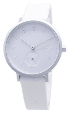 Features: Stainless Steel Case Rubber Strap Quartz Movement Mineral Crystal White Dial Analog Display Pull/Push Crown Solid Case Back Buckle Clasp Water Resistance Approximate Case Diameter: Approximate Case Thickness: Skagen Watches, Stainless Steel Case, Mineral, Quartz, Crown, Display, Unisex, Crystals, Water