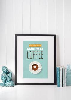Coffee Poster  Coffee Quote  Coffee Art  Coffee Printable