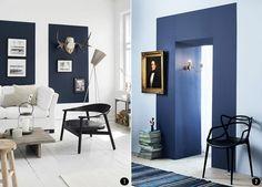 Pintar el salón en dos colores aporta personalidad y carácter a esa estancia. Un montón de ideas: sofisticadas, elegantes, atrevidas...