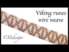 In this tutorial I show you how to make a viking runes wire weave. it can be incorporated into different kinds of jewellery. Wire Tutorials, Jewelry Making Tutorials, Wire Wrapped Bracelet, Wire Wrapped Pendant, Wire Weaving Tutorial, Bijoux Fil Aluminium, Wire Jewelry Making, Wire Crafts, Beads And Wire