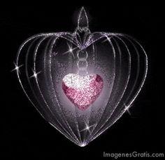 Cage contenant un coeur