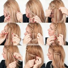 Messy fringe? Here's an easy tutorial for a rope twist braid. It's also great if you're growing out your bangs.  #hairromance