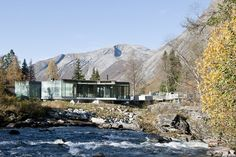 The name says it all - it's all about the landscape at the Juvet Landscape Hotel. Nested along the river in the rural Norwegian town of Valldal, modest and modern cabins are spread out among the topography - each with at least one wall of glass, designed specifically so that guests can be at one