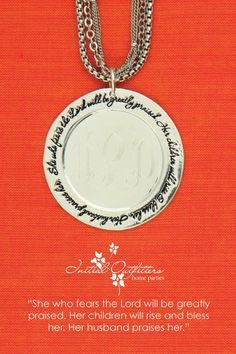 Love this pendent for #MothersDay! #personalize #monogram