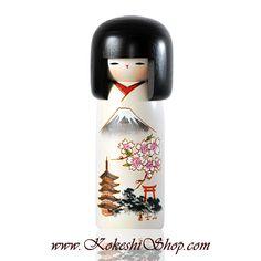 Kokeshi doll Fuji | Available on www.kokeshishop.com