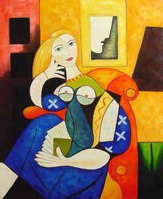 "Pablo Picasso, ""Muchacha leyendo"""