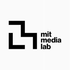 MIT Media Lab identity by Michael Bierut Web Design, Best Logo Design, Identity Design, Visual Identity, Corporate Identity, Michael Bierut, Type Logo, Lab Logo, Square Logo