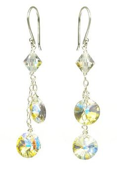 Sterling Silver Swarovski Elements Crystal Aurora Borealis Lentils and Bicone Bead Drop Earrings Amazon Curated Collection, http://www.amazon.com/dp/B003YXYTIE/ref=cm_sw_r_pi_dp_QG6trb1GB70VM