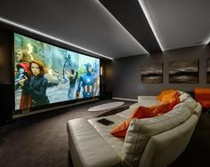 More ideas below: DIY Home theater Decorations Ideas Basement Home theater Rooms Red Home theater Seating Small Home theater Speakers Luxury Home theater Couch Design Cozy Home theater Projector Setup Modern Home theater Lighting System Home Theater Lighting, Home Theater Decor, At Home Movie Theater, Home Theater Rooms, Home Theater Design, Home Theater Seating, Home Cinema Projector, Home Cinema Room, Projector Setup