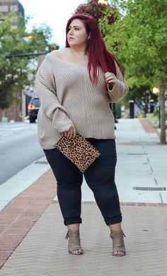 Plus Size Fashion for Women - Plus Size Fall Outfit Idea Plus Size Winter Outfits, Plus Size Fall Fashion, Plus Size Fall Outfit, Winter Outfits Women, Casual Winter Outfits, Curvy Fashion, Plus Size Outfits, Autumn Fashion, Holiday Fashion