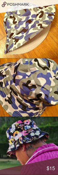 CAMOFLAUGE BUCKET HAT BOONIE CAP CAMO LIKE BAPE CAMO LIGHT FABRIC HAT. BRAND NEW FROM THE STEEZ BOUTIQUE! AS SEEN ON CELEBRITIES LIKE CHRIS BROWN, RIHANNA, TYGA, PHARRELL. POPULAR TRENDY LOOK LIKE BAPE/BATHING APE. Accessories Hats