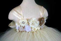 Flower Girl Baby Toddler Girls Tutu Dress by TootieFruityTutuShop, $85.00