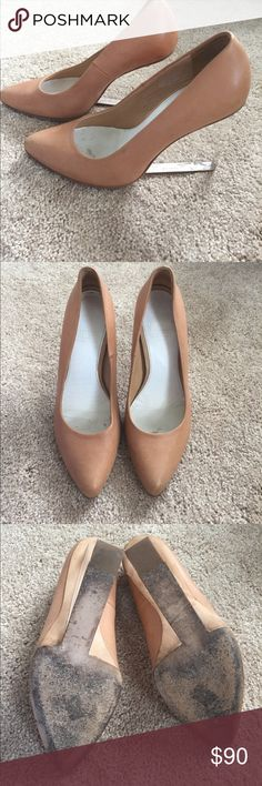 Maison Martin Margiela clear wedge shoes 8 In overall good condition with normal wear on the soles and minor scuffs. Maison Martin Margiela Shoes Wedges