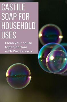 Replace chemical-based household products with non-toxic castile soap. Check out how one bottle of castile soap can eliminate many toxic products from being used in your home Castile Soap Uses, Castile Soap Recipes, Homemade Soap Recipes, Natural Cleaning Solutions, Natural Cleaning Products, Household Products, Household Cleaners, Soap Display, Lavender Soap