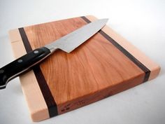 Reclaimed hardwoods Cutting Board maple black by ecohardwoods, $20.00