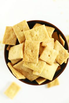 Healthified Vegan Cheez Its! No cheese, no dairy, just pure salty cheezy goodness!
