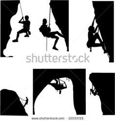 stock vector : rock climbing - vector