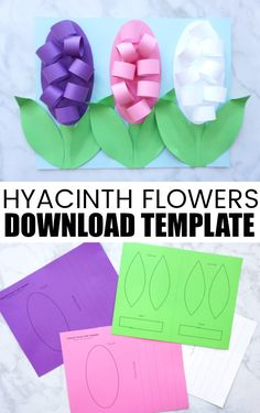 Here is a simple and gorgeous Mother's Day card idea to make this year for Mom or Grandma. This Hyacinth Flower Mother's Day Card is super simple to make with the help of our flower template and Mom will adore it!