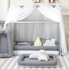 Mosquiteiro para Cama Montessoriana Voil Branco - Baby Enxoval - BabyEnxoval