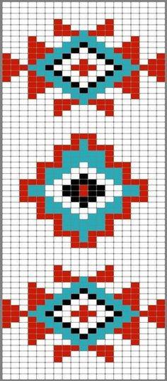 Versatile And Unique Free Crochet Patterns - Hairstyle Tapestry Crochet Patterns, Bead Loom Patterns, Weaving Patterns, Cross Stitch Patterns, Motif Navajo, Navajo Pattern, Native American Patterns, Native American Beading, Knitting Charts