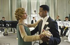 Musician: Ross (Gary Carr) with Rose (Lily James) in Downton. Barry Humphries said the sho...