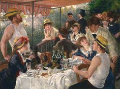 off Hand made oil painting reproduction of Luncheon Of The Boating Party, one of the most famous paintings by Pierre Auguste Renoir. Currently housed in the Phillips Collection in Washington, Pierre-Auguste Renoir's Luncheon of the Boating Party. Famous Impressionist Paintings, Renoir Paintings, Most Famous Paintings, Great Paintings, Impressionist Art, Famous Art, Pierre Auguste Renoir, Claude Monet, Action Painting