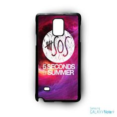 5 SOS Seconds Of Summer Purple Space Galaxy for Samsung Galaxy Note 2/Note 3/Note 4/Note 5/Note Edge phone case