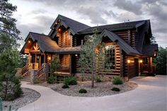 This is an Irish Log Cabin and one of my favourite log homes of all time. This design by an Irish company (EGF log homes). Log Cabin Living, Log Cabin Homes, Log Cabins, Mountain Cabins, Mountain Homes, Plan Chalet, Timber Frame Homes, Cabins And Cottages, Design Case