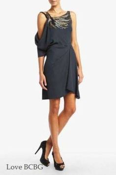 $398 NEW BCBG MAXAZRIA GEMMA MEDITERRANEAN BLUE DRESS XXS IMS6L965