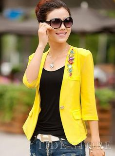 Shop Celebrity New Arrival Lace Rush Guards All-matched Korean Blazer on sale at Tidestore with trendy design and good price. Come and find more fashion Blazers here. Cheap Blazers, Blazers For Women, Casual Blazer, Blazer Fashion, Cheap Dresses, Fashion Dresses, Korean, Celebrity, Lace