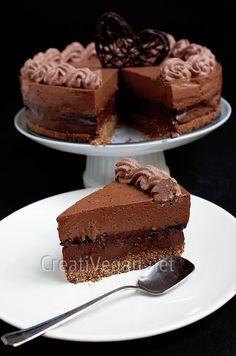 tarta 4 chocolates. #Receta #vegana