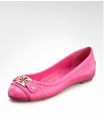 Ballet flats. They go with pants, skirts, shorts... And, they are super comfortable.