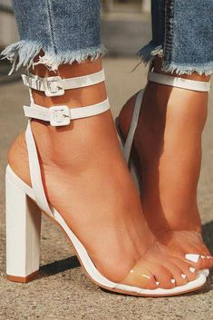 8faa605344d White Color Block High Heels For Prom. Your prom shoes should be  comfortable! Sparkly