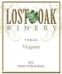 From a local vineyard, this Viognier didn't disappoint at the wine tasting so we bought home a couple of bottles.  It was a little tarter than what I remembered, but finished well with salmon and green beans. - Lost Oak Winery Viognier