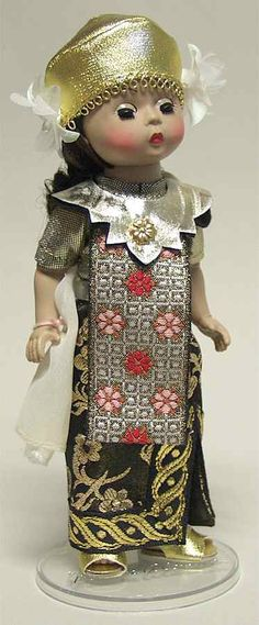Doll Bali - Boxed by Madame Alexander Girls Red Skirt, Red Skirts, Greece Girl, Boy Box, Small White Flowers, Pattern Code, Green Hats, Madame Alexander Dolls, Bali