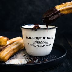 These fabulously crunchy delicious Churros are one of the easiest desserts that can be made at home Dunk them in a rich hot chocolate or dulce de leche sauce for a decadent dessert to die for churros easy recipe video dessert Eggless Desserts, Eggless Recipes, Eggless Baking, Easy Desserts, Dessert Recipes, Cooking Recipes, Egg Free Desserts, Homemade Churros Recipe, Homemade Cakes