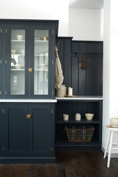 The Real Shaker furniture in deVOL's Clerkenwell shop is painted in 'Pantry Blue'