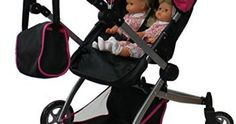 Babyboo Deluxe Twin Doll Pram/Stroller with Free Carriage (Multi Function View All Photos) – 9651A