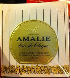 Take a trip to the Caribbean and feel the island breeze....The scent of millions of flowers in bloom.... That is the scent of Amalie Eau de Cologne. This vintage scent was made by The Virgin Islands Perfume Corp in St. Thomas, USVI. The bottle contains 2 fl oz. and still sealed.