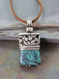 Dharmashop.com - One of a Kind Tourquoise Silver Tibetan Pendant , $108.00 (http://www.dharmashop.com/one-of-a-kind-tourquoise-silver-tibetan-pendant/)