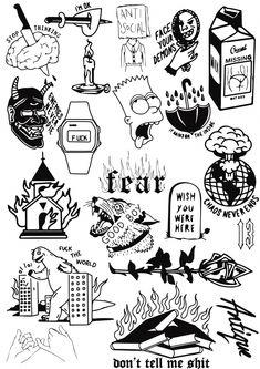 TATTOO OLD school inspirations - Old School Tattoos are perhaps the most versatile. - TATTOO OLD school inspirations – Old School Tattoos are perhaps the most versatile and have proved - Flash Art Tattoos, Body Art Tattoos, Tattoo Flash Sheet, Tatoos, Kritzelei Tattoo, Doodle Tattoo, Tattoo Fonts, Goth Tattoo, Knee Tattoo