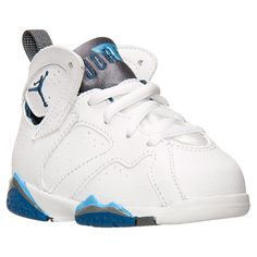 Boys' Toddler Air Jordan Retro 7 Basketball Shoes | Finish Line | White/French Blue/University Blue