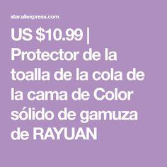 US $10.99 | Protector de la toalla de la cola de la cama de Color sólido de gamuza de RAYUAN Tela, Solid Colors, Towels, Beds, Tejidos