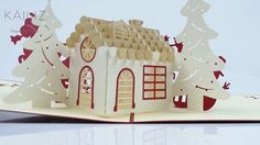 KAILIZ Big Christmas House 3D Pop up Kirigami Christmas Card