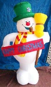 Gemmy snowman chubby inflatable