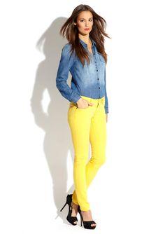 HYBRID Skinny Leg Color Jean