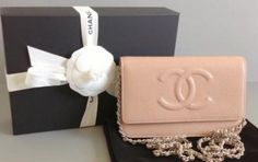 Chanel Wallet On A Chain Nude Caviar