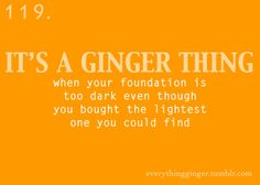 it's a ginger thing - transparent foundation