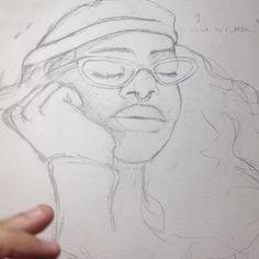 processo de um dos desenhos que vão ser postados mais tarde ✨ . . . . . . #processart #waterbrush #painting #timelapse #video #art #drawing #illustration #artistofinstagram #desenho #ilustração #arte